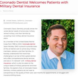 Jason Keckley, DMD Welcomes Patients with Military Dental Insurance