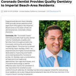 Imperial Beach Residents Rely on Coronado Dentist Jason Keckley, DMD for Quality Dentistry